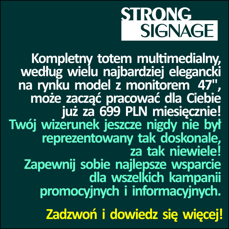 Promocja Digital Signage